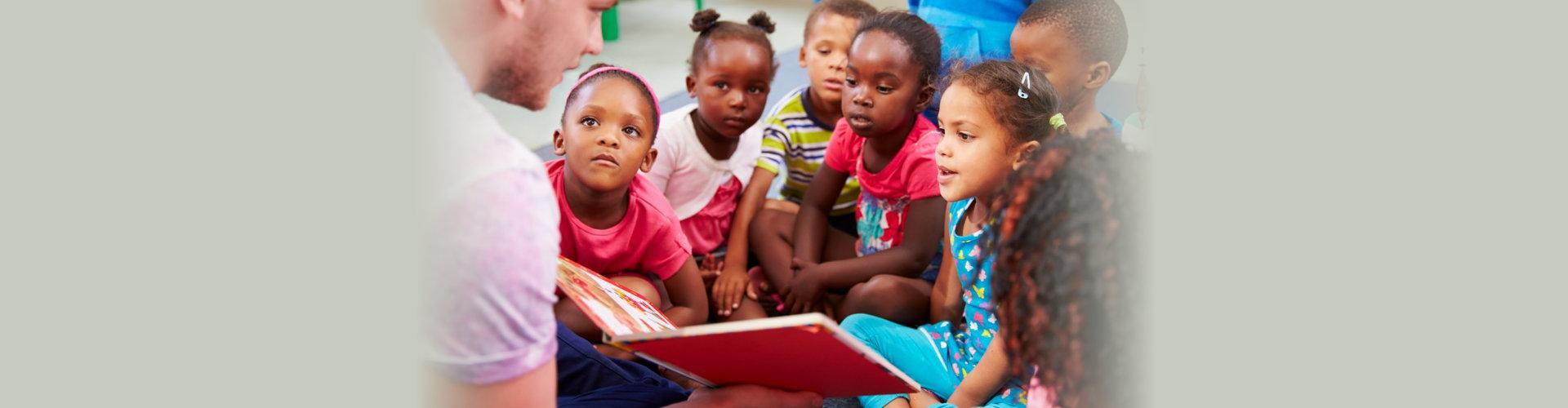children listening to the teacher